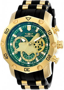 【送料無料】腕時計 ウォッチメンズプロダイバースタイリッシュクロノグラフグリーンウォッチストラップ