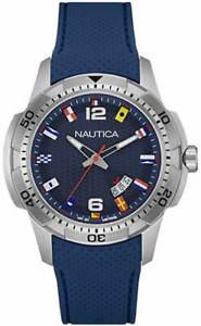 【送料無料】腕時計 ウォッチメンズフラグアナログシリコーンウォッチmens nautica flag analog display blue silicone watch nad13515g