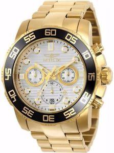 【送料無料】腕時計 ウォッチメンズプロダイバークォーツクロノグラフイエローゴールドスチールウォッチinvicta 22229 mens pro diver quartz chronograph yellow gold steel watch