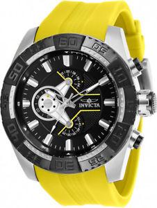 【送料無料】腕時計 ウォッチメンズプロダイバークロノステンレスシリコンウォッチinvicta mens pro diver chrono 100m stainless steelyellow silicone watch 25993