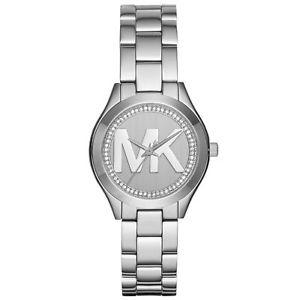 【送料無料】腕時計 ウォッチミハエルスリムロゴステンレススチールウォッチmichael kors mk3548 womens mini slim runway mk logo stainless steel watch