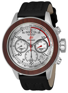 【送料無料】腕時計 ウォッチメンズラリーラウンドアナログクロノグラフウッドレザーウォッチinvicta s1 rally 23065 mens round analog chronograph date wood leather watch