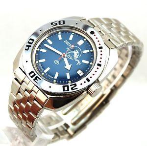 【送料無料】腕時計 ウォッチロシアヴォストークダイバーウォッチvostok amphibian automatic russian diver watch orologio russo 710059