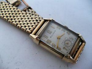 【送料無料】腕時計 ウォッチディレクターケースブレスレットwow vtg bulova director 21j rectangle case~awesome bracelet wristwatch~1946