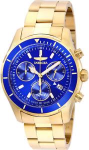 【送料無料】腕時計 ウォッチメンズプロダイバークォーツクロノグラフステンレススチールinvicta mens pro diver quartz chronograph gold plated stainless steel watch 26