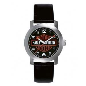 【送料無料】腕時計 ウォッチハーレーダビッドソンメンズバーシールドgenuine harley davidson mens bar amp; shield leather wrist watch 76a04