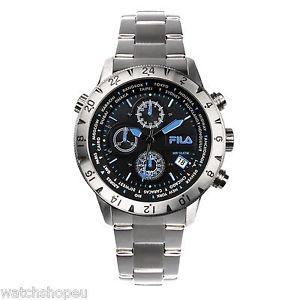 【送料無料】腕時計 ウォッチフィラメンズクロノグラフ fila 38007004 mens chronograph watch 2 year warranty
