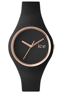m ウォッチアイスレディースブラックローズゴールドウォッチウォッチicewatch 000980 schwarzrosgold ice 【送料無料】腕時計 damenuhr glam