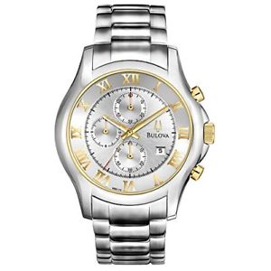 【送料無料】腕時計 ウォッチメンズクロノグラフゴールドアクセントウォッチbulova mens chronograph gold accent watch 98b175