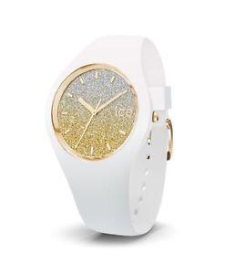 【送料無料】腕時計 ウォッチホワイトゴールドアナログシリコンice lo white gold small 3h 13428 analog silikon wei