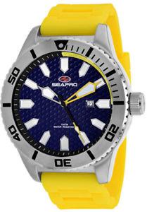 【送料無料】腕時計 ウォッチメンズステンレスシリコンseapro mens brigade quartz 100m stainless steelyellow silicone watch sp1312