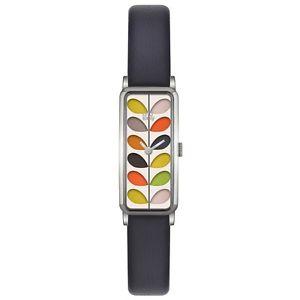 【送料無料】腕時計 ウォッチレディースネイビーレザーストラップウォッチ¥orla kiely ok2131 ladies stem navy leather strap watch rrp 95
