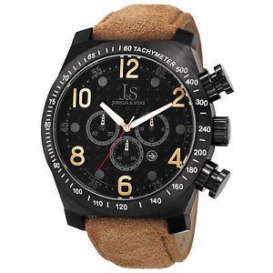 【送料無料】腕時計 ウォッチメンズジョシュアクロノグラフクォーツムーブメントスエードストラップウォッチmens joshua amp; sons js14tn chronograph quartz movement suede strap watch
