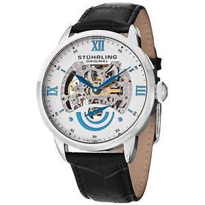 【送料無料】腕時計 ウォッチエグゼクティブメンズブラックカーフスキンウォッチ