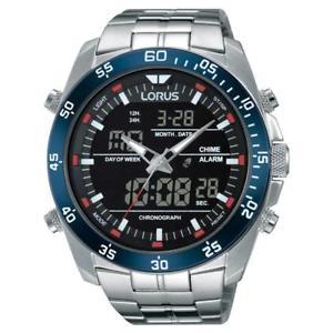 【送料無料】腕時計 ウォッチデュアルタイムクロノグラフメンズウォッチlorus dual time chronograph mens watch rw623ax9