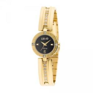 【送料無料】腕時計 ウォッチラグジュアリーリュジョドーナジルネロゴールドスワロフスキーorologio donna liu jo luxury jill tlj708 acciaio gold nero swarovski