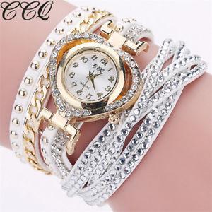 【送料無料】腕時計 ウォッチファッションカジュアルccq brand luxury fashion full crystal watch casual love geart shape braided l