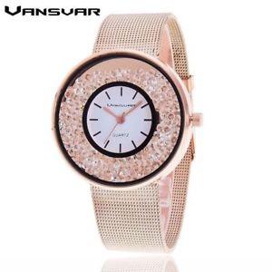 【送料無料】腕時計 ウォッチステンレススチールクオーツアールデコvansvar stainless steel quartz watch for women decorated with crystals