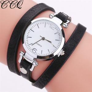 【送料無料】腕時計 ウォッチファッションレザーブレスレットレディースクォーツカジュアルウォッチccq fashion luxury leather bracelet watch ladies quartz watch casual women wr