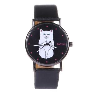 【送料無料】腕時計 ウォッチチャットブレスレットchat de mode montre bracelet en cuir dames montre cadran rond femmes montres