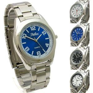 【送料無料】腕時計 ウォッチステンレススティールブレスレットポストクォーツreflex gents quartz watch with stainless steel bracelet free uk post