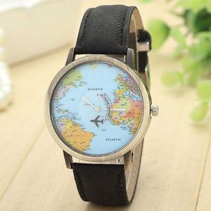 【送料無料】腕時計 ウォッチグローブノワールmontre mixte voyageur globe noir