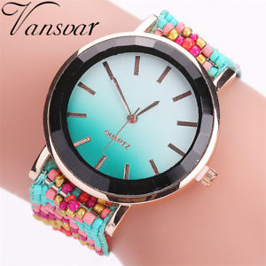 【送料無料】腕時計 ウォッチホットファッションカジュアルhot selling vansvar fashion handmade braided watch casual women wrist watches