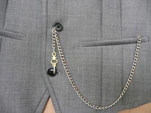 【送料無料】腕時計 ウォッチノベルティシルバーシングルアルバートポケットウォッチキーチェーンフォブ