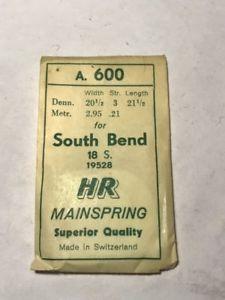 【送料無料】腕時計 ウォッチサウスベンドスチールhr mainspring a600 for 18s south bend 19528 steel