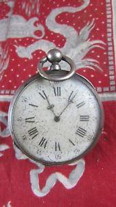 【送料無料】腕時計 ウォッチノートルダムデュアルジェントancienne montre a gousset xixe argent a cl clef 8 rubis 56