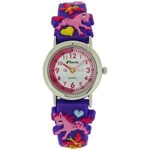 【送料無料】腕時計 ウォッチラヴェルポニーパープルラバーストラップウォッチravel time teacher girls 3d love my pony purple rubber strap watch r151370