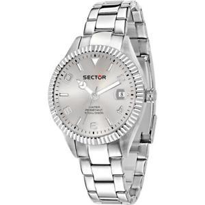 【送料無料】腕時計 ウォッチセクターサブメートルorologio uomo sector 245 r3253486014 acciaio silver sub 100mt