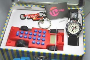 【送料無料】腕時計 ウォッチデザインボーイズレーシングウォータアンプキーリングセットtime design boys tdx5489k27 watch with racing car calculater amp; keyring set