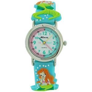 【送料無料】腕時計 ウォッチラヴェルマーメイドストラップウォッチravel time teacher girls 3d mermaid strap watch telling time award r151368