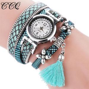 【送料無料】腕時計 ウォッチファッションブレスレットシルバーオリジナルデザインタッセルペンダントウォッチccq fashion women bracelet watch silver original design tassel pendant wristw