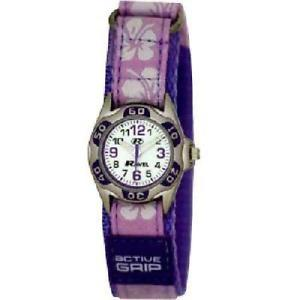 【送料無料】腕時計 ウォッチラヴェルライラックストラップウォッチハイビスカスravel girls lilac hibiscus easy fasten strap watch r150720