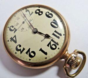 腕時計 ウォッチアンティークイリノイマスターゴールドレバーセットポケット