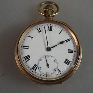 腕時計 ウォッチアメリカローリングamerikanische taschenuhr walzgold um 1910  sehr gut erhalten 49396