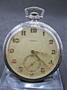 【送料無料】腕時計 ウォッチシルバーアールヌーボーゴールドアールデコtaschenuhr silber jugendstil gold lanco art deco 800 15 steine