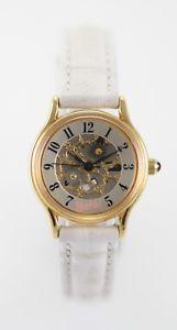 【送料無料】腕時計 ウォッチバービースケルトンステンレスゴールドホワイトレザークォーツバッテリーウォッチrelic barbie skeleton womens stainless gold white leather quartz battery watch