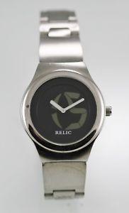 【送料無料】腕時計 ウォッチビッグステンレススチールウォッチシルバーブラッククォーツバッテリーレジスト