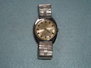 【送料無料】腕時計 ウォッチ#ビンテージカレンダーmen039;s vintage 1974 timex automatic calendar wrist watch british made not working