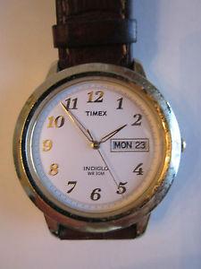 【送料無料】腕時計 ウォッチインディゴウォッチtimex indigo wr 30m watch daydate works great tub rrr