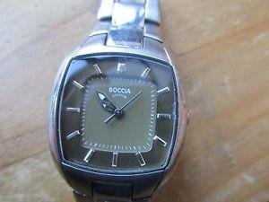 【送料無料】腕時計 ウォッチレディースクォーツブレスレットladies boccia quartz watch, used running smaller bracelet