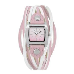 【送料無料】腕時計 ウォッチレディースアナログピンクマルチトンストラップファッションウォッチkahuna ladies analogue pink amp; white multi thong strap fashion watch kls0267l