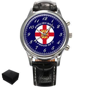 【送料無料】腕時計 ウォッチイギリスメンズengland english born amp; proud of it gents mens wrist watch gift engraving