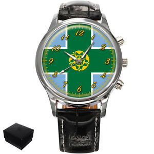 【送料無料】腕時計 ウォッチダービーシャーメンズderbyshire county flag gents mens wrist watch gift engraving