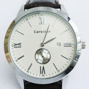 【送料無料】腕時計 ウォッチレザーストラップウオッチメーカーモデルcarsidun leather strap wristwatch model 6631 working condition