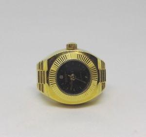 【送料無料】腕時計 ウォッチゴールドリングdigits bonetto gold colour quartz watch ring