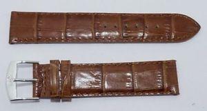 【送料無料】腕時計 ウォッチストラップleather 19mm brown high quality wrist watch strap brand